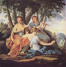 The Muses Clio, Euterpe, and Thalia